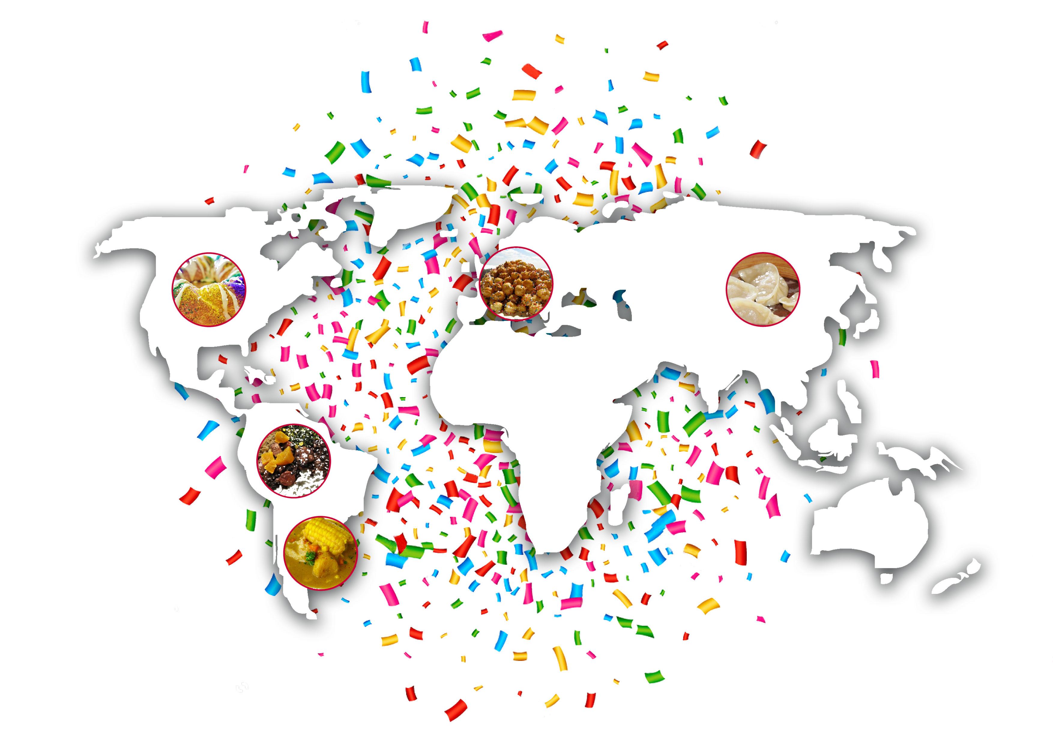 I piatti tipici del Carnevale nel mondo